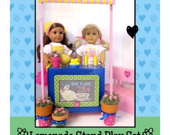 "American Girl _ 18 in Doll Pattern _ Lemonade Stand _ 18"" Doll Furniture Pattern + Doll Clothes Outfit BONUS Printables Digital Download PDF"