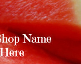 Watermelon Shop Banner, Etsy Shop Banner, banner maker, Summer, Red, Seeded