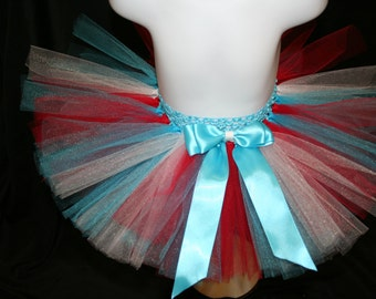 Thing 1 Tutu, Red, White and Blue Tutu Children's Tutu Skirts, Newborn to 6T Tutus