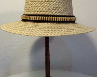 FREE  SHIPPING 1950's Bianchi Straw Hat