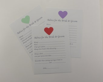 Advice Card for the Bride and Groom - Fill in the Blank - Wedding - Wedding Shower - Wish Card - Wedding Advice Card