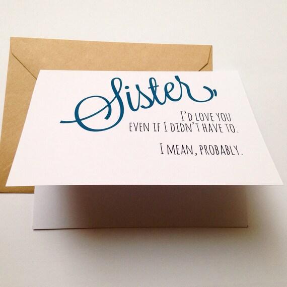 valentines day quotes from sister to brother - Drôle soeur carte carte d anniversaire soeur drôle de