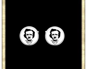 Poe Cufflinks- Silver Plated Cufflinks