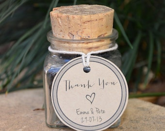 Thank You Wedding Favour Tag ~ PDF