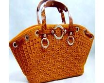Crochet Bag PATTERN, crochet casual bag pattern, detailed instructions in English, crochet designer bag pattern, instant download.