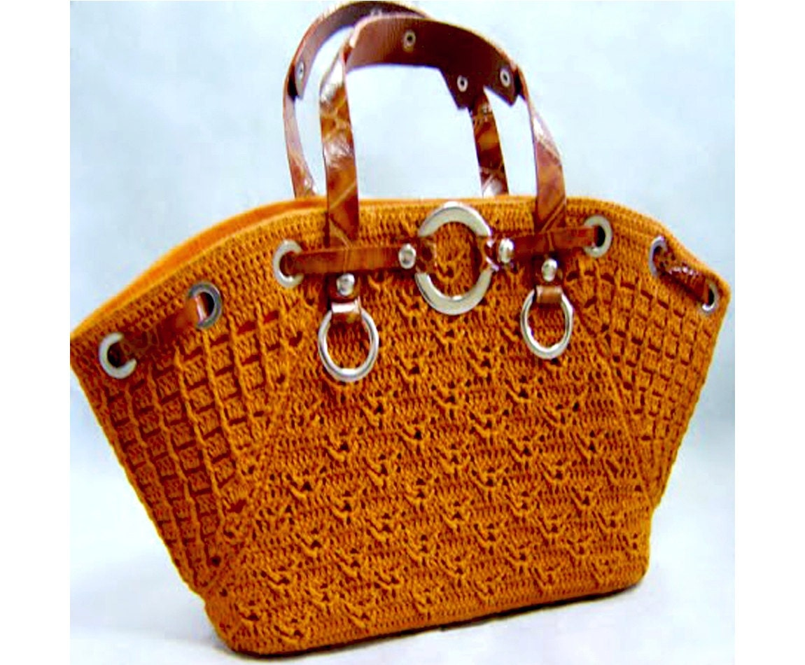 Crochet Designs For Bags : Crochet Bag PATTERN, crochet casual bag pattern, detailed instructions ...