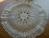 Vintage doily,crochet little center piece ecru color perfect  for house decor - AndrasVintagelane