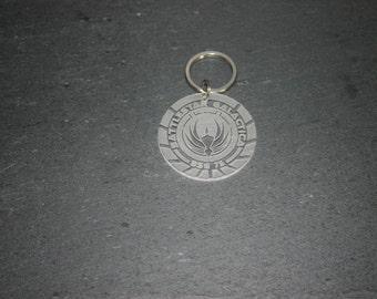 Battlestar Galactica Keyring nuBSG, BSG 75 Starbuck Apollo - Laser Cut - UK Made