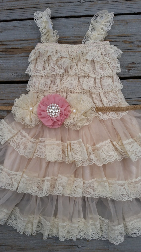 Items Similar To Flower Girl Dress Rustic Flower Girl French Country Wedding