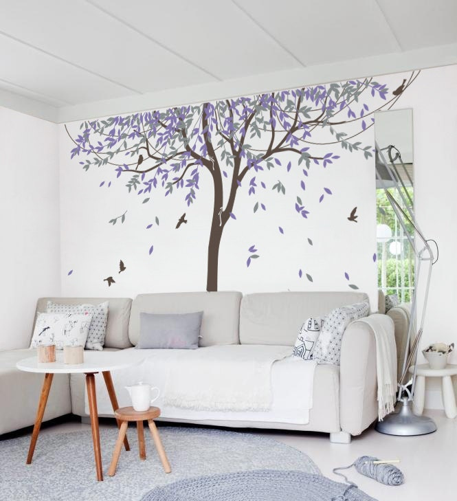 Wall Decor Stickers Penang : Nursery willow tree wall decal sticker