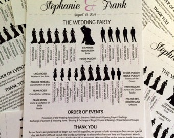 Wedding Program Silhouette Custom Designed for Your Wedding PDF File