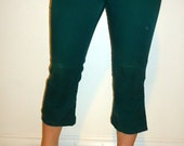 Vintage 60's 70's Green Jeans Tuff Skins Pants Boys  Size 10/12