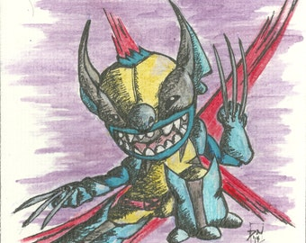 ORIGINAL mini Stitch & Wolverine Mash-Up