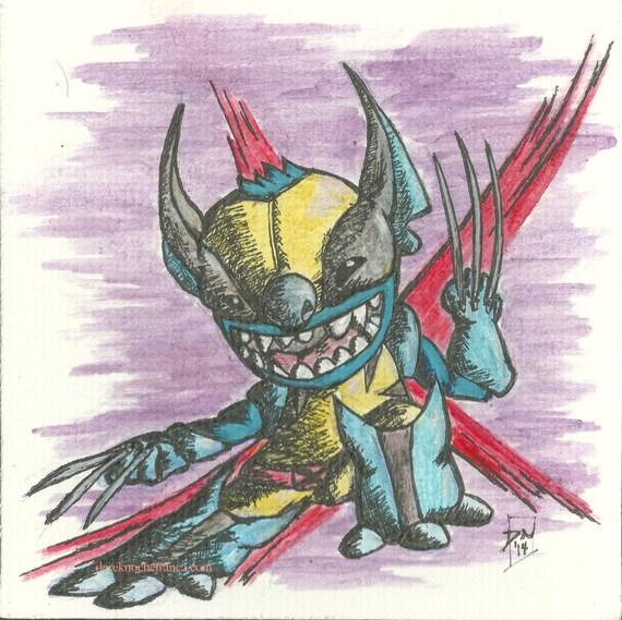 ORIGINAL mini Stitch & Wolverine Mash-Up