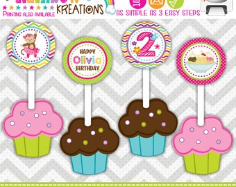 CT-693: DIY - Monkey In A Tutu 5 Cupcake Toppers