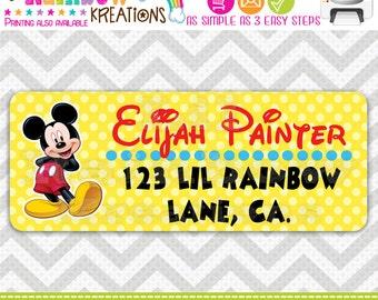 ADDRESSLA-205: DIY - Mickey Mouse Address Labels