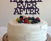 Happily Ever After - Modern Wedding Cake Topper