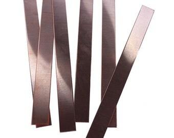 "Copper Bracelet Blank 18ga 6"" x 1/2"" (Pkg of 6)  (MSC35018)"