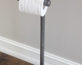 Industrial Pipe Standing Toilet Paper Holder