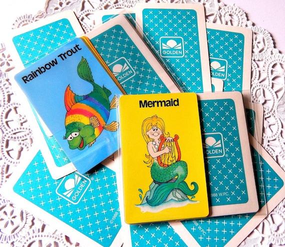 Vintage go fish card game paper ephemera vintage game for Card game go fish
