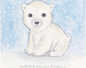Cute polar bear drawings - photo#5