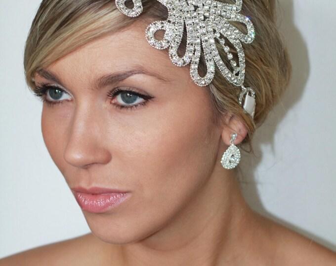 Featured listing image: Art Deco Rhinestone Bridal Statement Head Piece