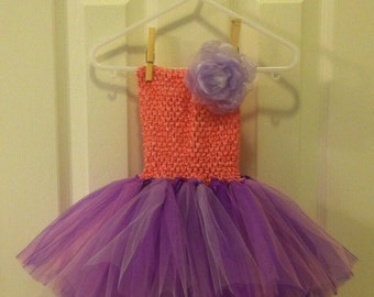 Light pink and lavender tutu with light pink crochet top