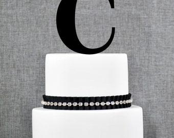 Letter C - Initial Cake Topper, Monogram Wedding Cake Topper, Custom Cake Topper