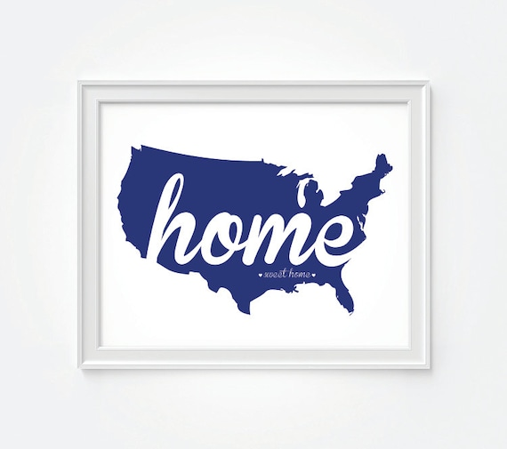 America Home Sweet Home Patriotic Decor Usa