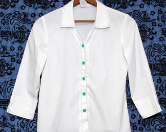 Vintage Girl Scout 3/4 Sleeve Top Jr Large