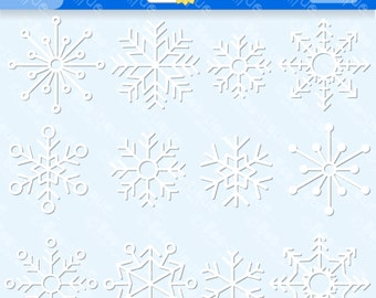 White Snowflakes Digital Clipart. Snowflakes Clip Art for Instant Download. Christmas Clipart. Snowflakes Clipart. Winter Clipart. Snowflake