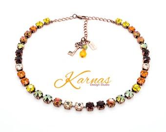 CORNUCOPIA 8mm Crystal Necklace Made With Swarovski Elements *Pick Your Finish *Karnas Design Studio *Free Shipping*
