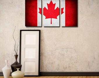 Canada Flag Triptych (w/ Free Shipping!)