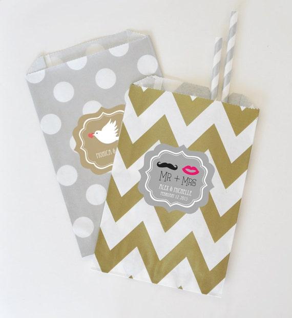 Wedding Favor Bags Personalized : Wedding Favor BagsCandy Buffet BagsCustom Wedding Favor Bag ...