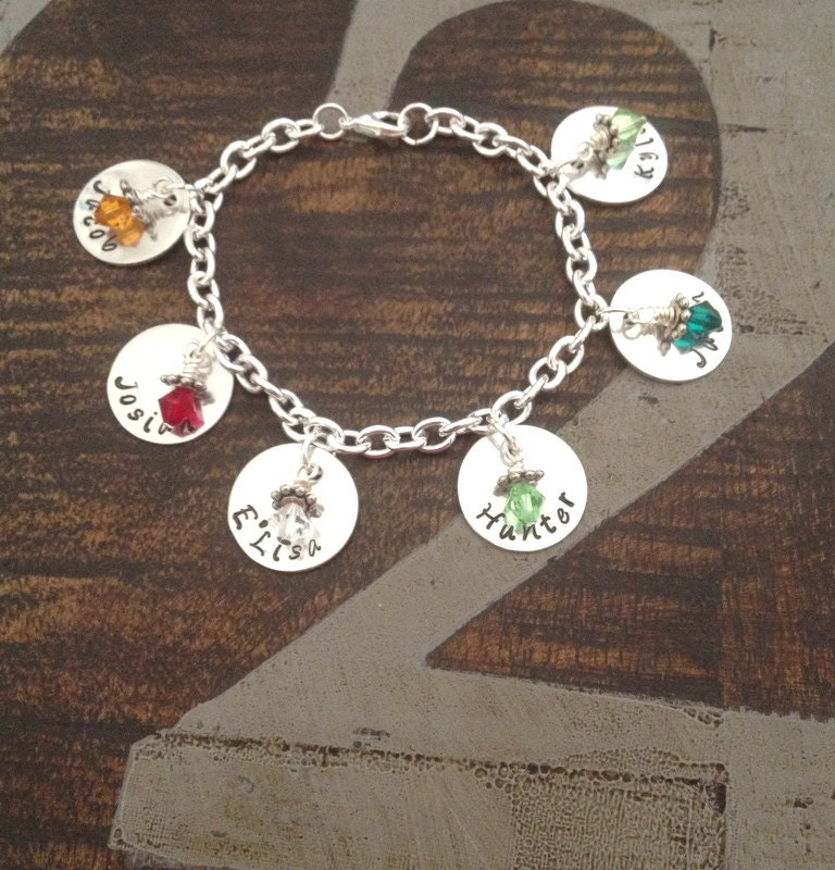 personalized charm bracelet bracelet by