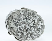 Hand made 800 Silver Italian Engraved Pill Box