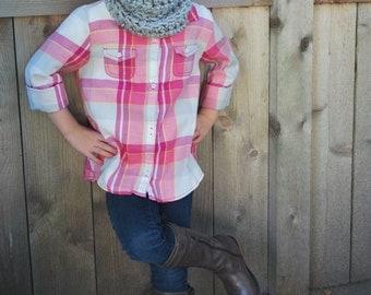 Kids Crochet Cowl - Children's Snood - Knit Cowl - Children's Cowl