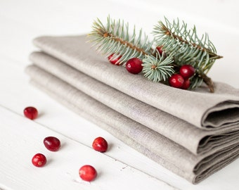 Linen napkins set 12 - Easter napkins -Wedding napkins - Gray napkins - Organic napkin cloths - Dinner napkins - Easter table decor