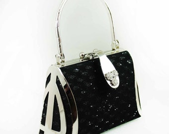FREE Little Black Evening Bag Purse with Purchase of 75 Dollars or More HB1003