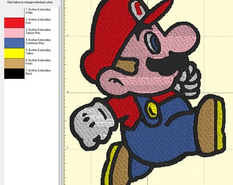 Mario embroidery etsy for Art minimaliste pdf