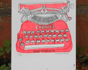 Vintage Typewriter Screen print