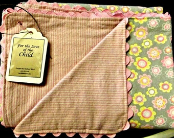 Sweet Baby Girl Blanket--Large enough to swaddle!!