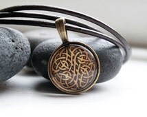 Celtic knot pendant Pagan jewelry Irish necklace NW 2