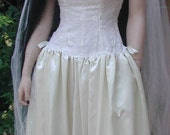 Jeannie Nitro Lip Service Gothic Renaissance Ivory Brocade Wedding Gown Corset Dress