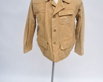 vintage hunting jacket shooting 1960s red head redhead canvas large