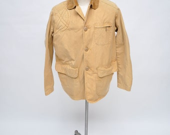 vintage hunting jacket shooting 1950s canvas tan LARGE