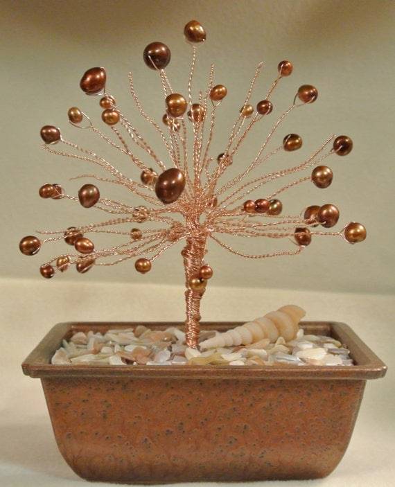 Items Similar To Handmade Pearl Tree Of Life, Wire Tree Of