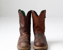 vintage leather work boots,  Georgia Boot,  men's size 11.5