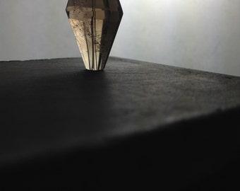 SMOKEY  QUARTZ   TRAPEZOHEDRON  Bead, focal, Pendant