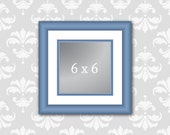 Digital Download ai. & eps10.: 5x5 and 6x6 Vector Square Photo Art Frames for Web and Print. 2 frame sizes. Editable frame and mat colors.